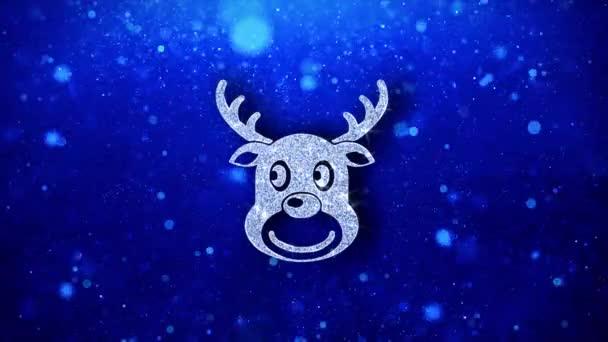 Karácsony rénszarvas Xmas Deer ikon villogó Glitter ragyogó Shine részecskék.