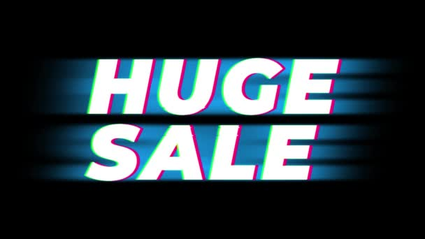 Hatalmas eladás szöveg Vintage glitch hatás Promotion.