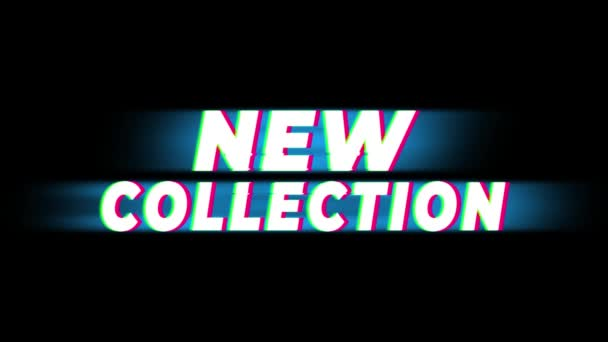 New Collection Text Vintage Glitch Effect Promotion .