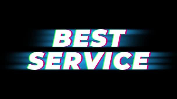 Best Service Text Vintage Glitch Effect Promotion .