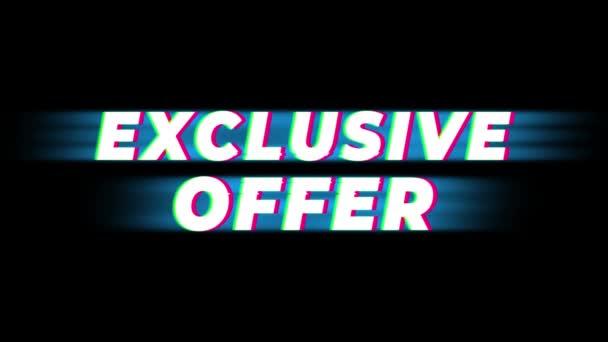 Exkluzív ajánlat szöveg Vintage glitch hatás Promotion .