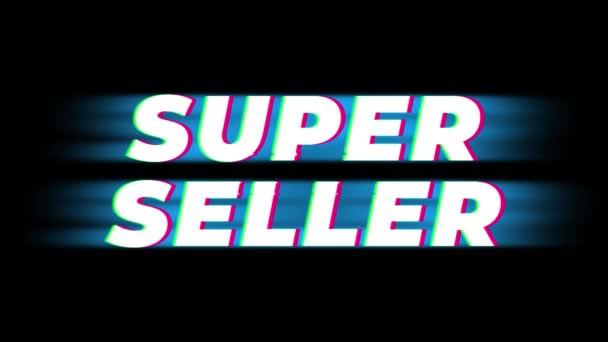 Szuper eladó szöveg Vintage glitch hatás Promotion .