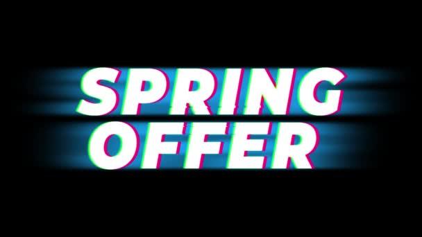 Tavaszi ajánlat szöveg Vintage glitch hatás Promotion.