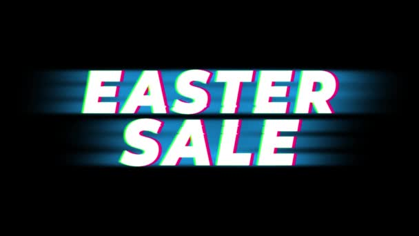 Easter Sale Text Vintage Glitch Effect Promotion .