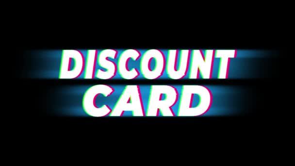 Text zlevněné karty propagace efektů .