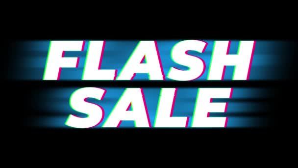Flash eladó szöveg Vintage glitch hatás Promotion .