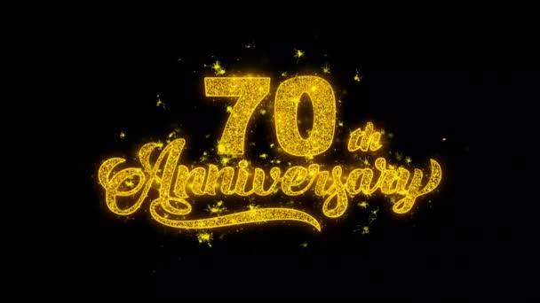 Mit Goldpartikeln geschriebene Glückstypologie zum 70. Geburtstag zündet Feuerwerk
