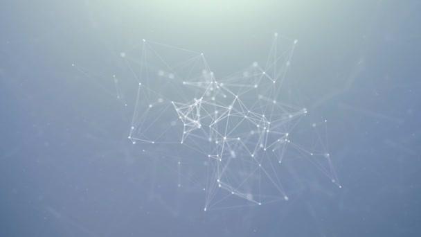 Šedé a bílé polygonální pozadí sítě.