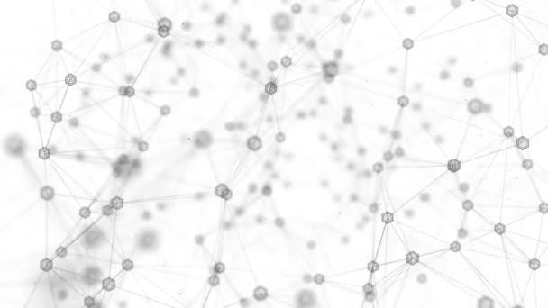 abstrakt polygonal mit verbindenden Punkten und Linien Raumnetzwerk-Verbindung