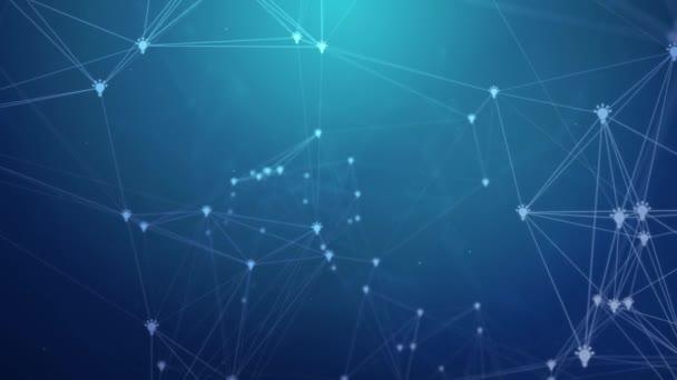 Plexus abstraktní síť spojené obchodní technologie věda .