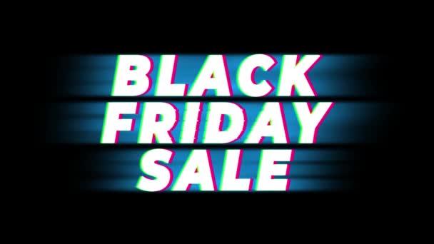 Fekete péntek eladó szöveg Vintage glitch hatás Promotion.