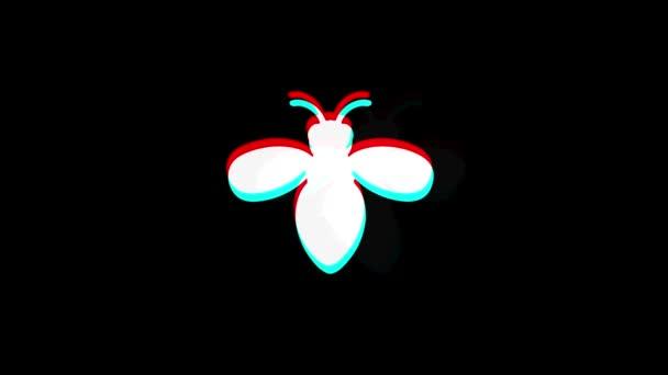 Brouk, hmyz, příroda, ikona vosa ročník twittovaná špatná animace signálu.
