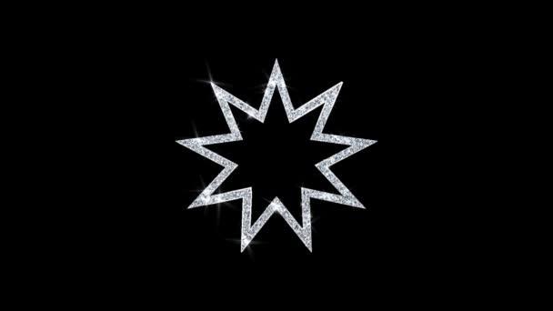 Bahai devět špičaté hvězdy .
