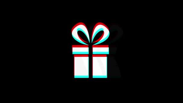 Seznam dárků s červeným pásem karet současná ikona ročník Twittovaná špatná animace signálu.