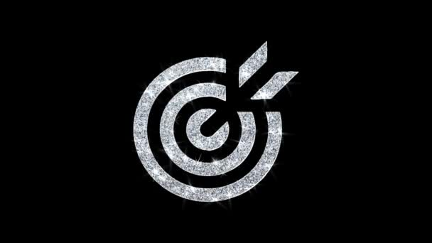 Target Emblem Pictogram Icon Shining Glitter Loop Blinking Particles .