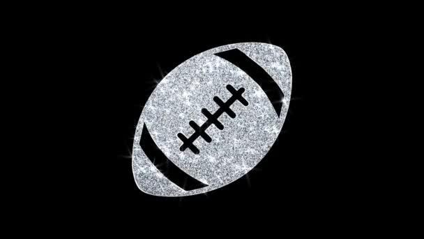 Amerikai futball ikon csillogó Glitter loop villogó részecskék .