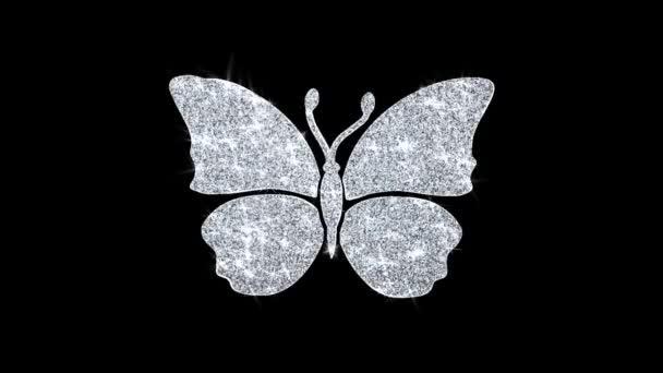 Pillangó és Bee Icon fénylő Glitter loop villogó részecskék .