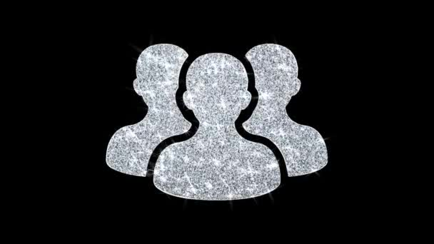 People, Person, Group Icon Shining Glitter Loop Blinking Particles .