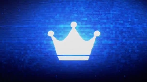 Královna královské koruny symbol pro chybu šumu v digitálním pixelu.