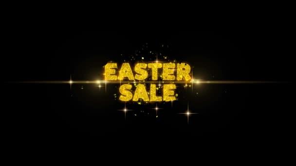 Velikonoční prodej text odhalovat zlaté částice Firework.