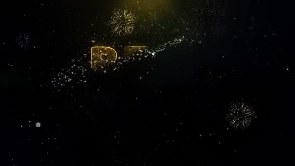 A legjobb érték szöveg arany részecskék Fireworks kijelző.