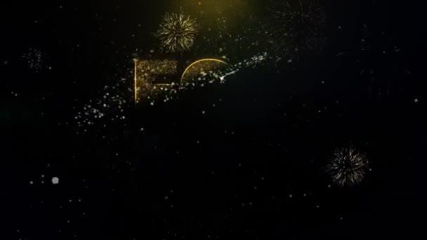 Eladó szöveg az arany részecskék tűzijáték Display.