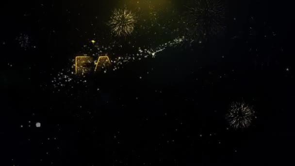 Divatirányzatok Text on Gold részecskék tűzijáték kijelző.