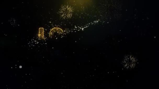Text nejnižší ceny u zlatých částic zobrazení Fireworks.