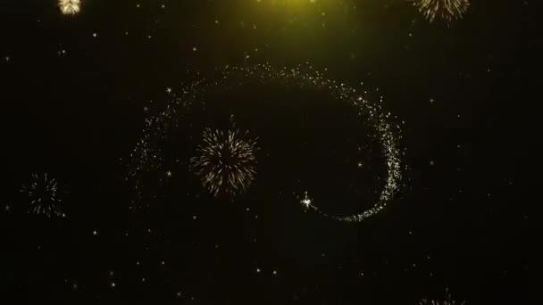 A Stock szöveg Firework kijelző robbanás részecskék.
