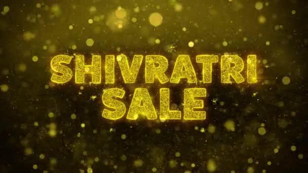 Šivratri prodej text na zlaté Třpyty částic animace.