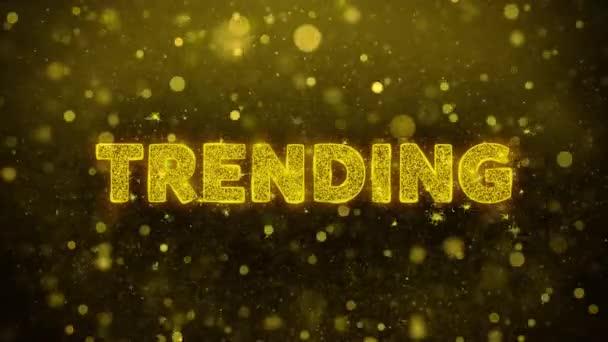 Trend szöveg Golden Glitter Shine részecskék animáció.