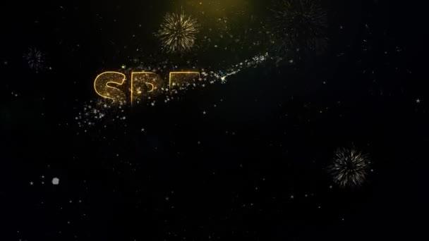 Akciós ár szöveg arany részecskék tűzijáték Display.