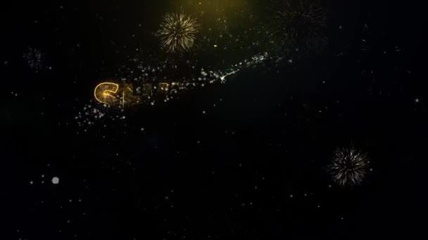 Shivratri prodej text na zlatých částicích zobrazení Fireworks.