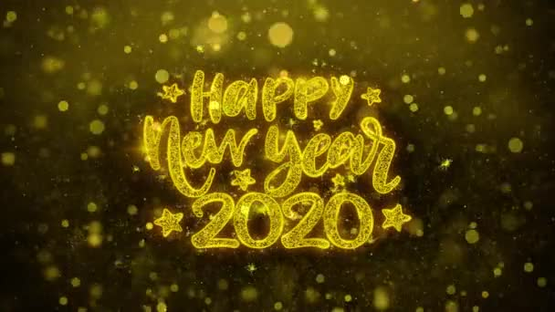 happy new year 2020 wish text on golden glitter shine particles animation stock video c infi studio 308791234 happy new year 2020 wish text on golden glitter shine particles animation