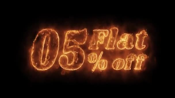 Lakás 05 százalék távoli Word Hot animált Burning reális Fire Flame loop.