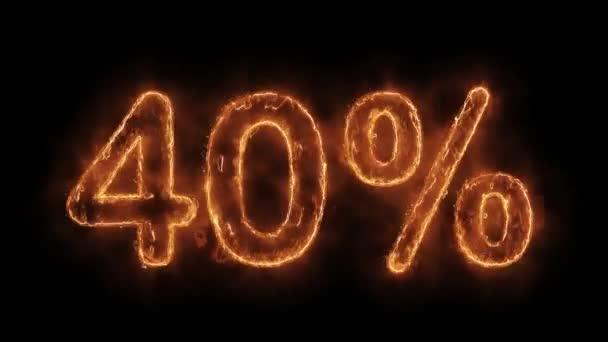 40 százalék távoli Word Hot animált Burning reális Fire Flame loop.
