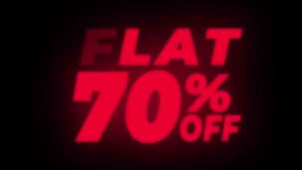 Flache 70 Prozent Rabatt auf flackerndes Display.