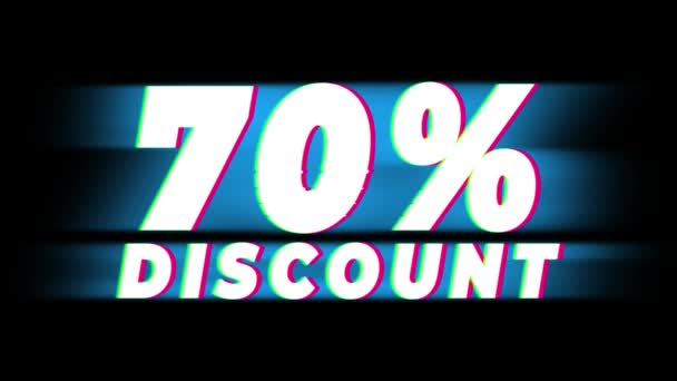 70 Prozent Rabatt Text vintage glitch effect promotion .