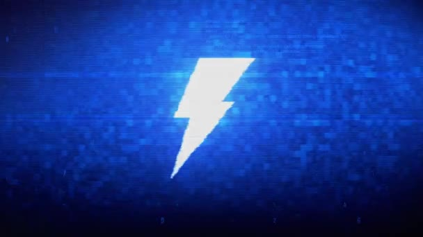 Animovaná ukázka šumu v digitálním obrazovém bodu Flash.