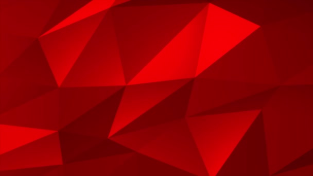 Színes piros szín geometrikus háromszög alacsony poli stílus gradiens hurok grafikus háttér.