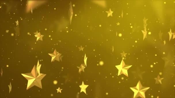 4K plovoucí lesklé třpytivé organické třpytivé hvězdy částice smyčka pozadí.