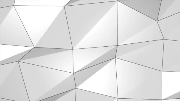 Fehér szürke Sima Absztrakt Plexus Absztrakt Network Technology Science Loop Animation
