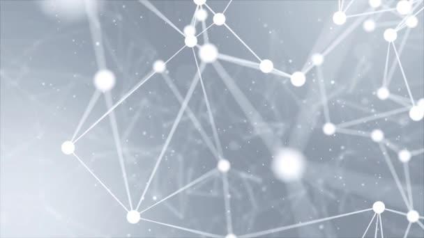 3D abstraktní tvary plexu Spojení a koncept webu Pozadí smyčky.