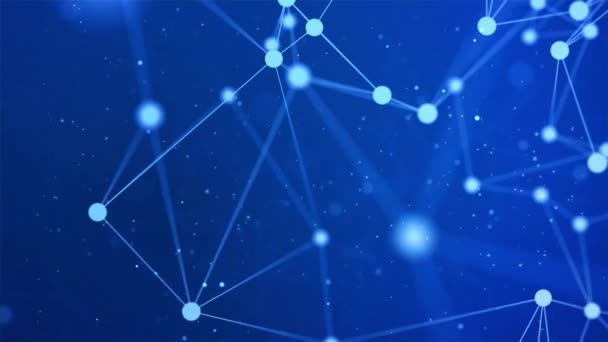 Abstraktní mnohoúhelníkové smyčkové pozadí, geometrické pozadí spojující tečky, čáry, trojúhelníky