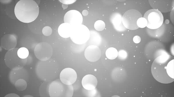 4k Pomalu padající bokeh, třpytky světla smyčka vánoční pozadí Částice.