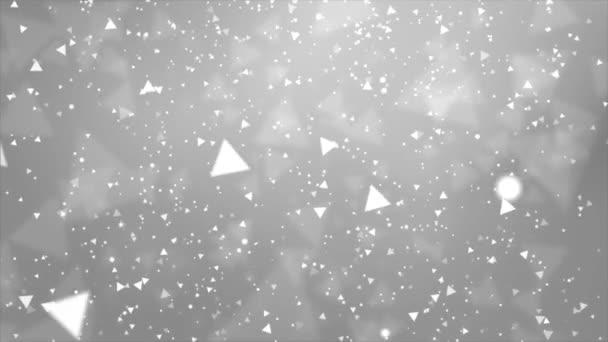 Magie zářící prachové částice tekoucí abstraktní smyčka pozadí.
