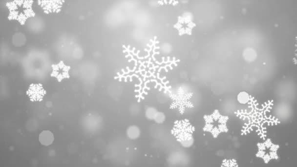Absztrakt gyönyörű fény fehér hurkolható téli hópehely háttér