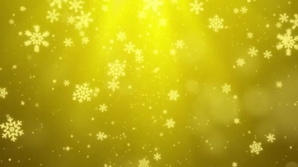 Winter blue Light with falling snow, snowflake. Holiday Winter loop background