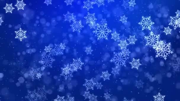 hóesés Kék fehér hurok háttér karácsony és újév üdvözlő kártyák.