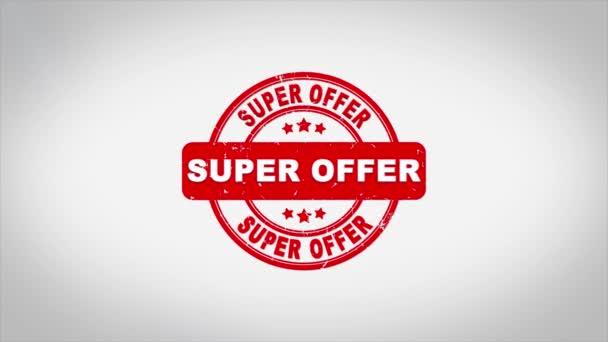 Super Offer Aláírt bélyegző szöveg Fa bélyeg Animáció.